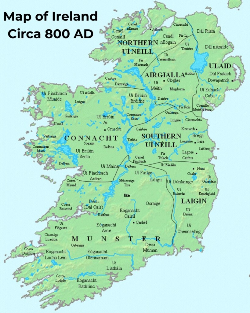 Map of Ireland with text overlay