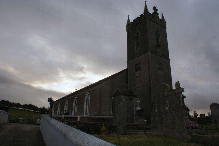 Stone church at twilight