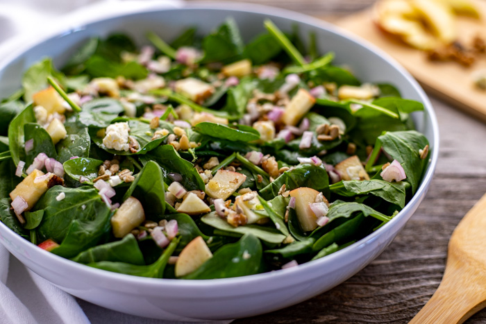 Bowl of spinach salad