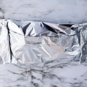 Folded foild packet on a counter