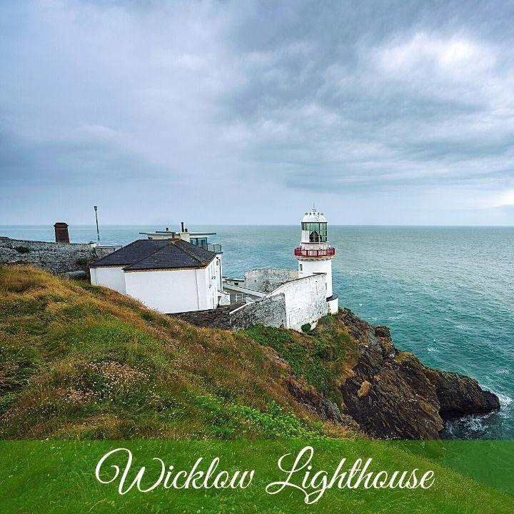 Lighthouse by a coast with text overlay