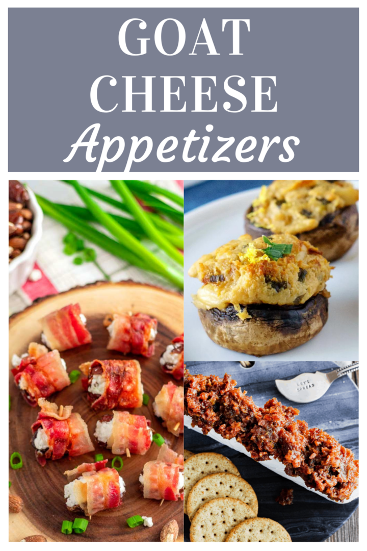 Appetizer photo collage with text banner