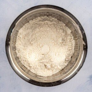 Flour sifted into a bowl